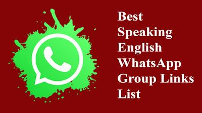 Best Speaking English WhatsApp Group Links List