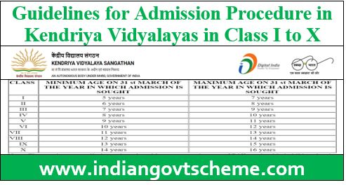 Guidelines for Admission in KVS