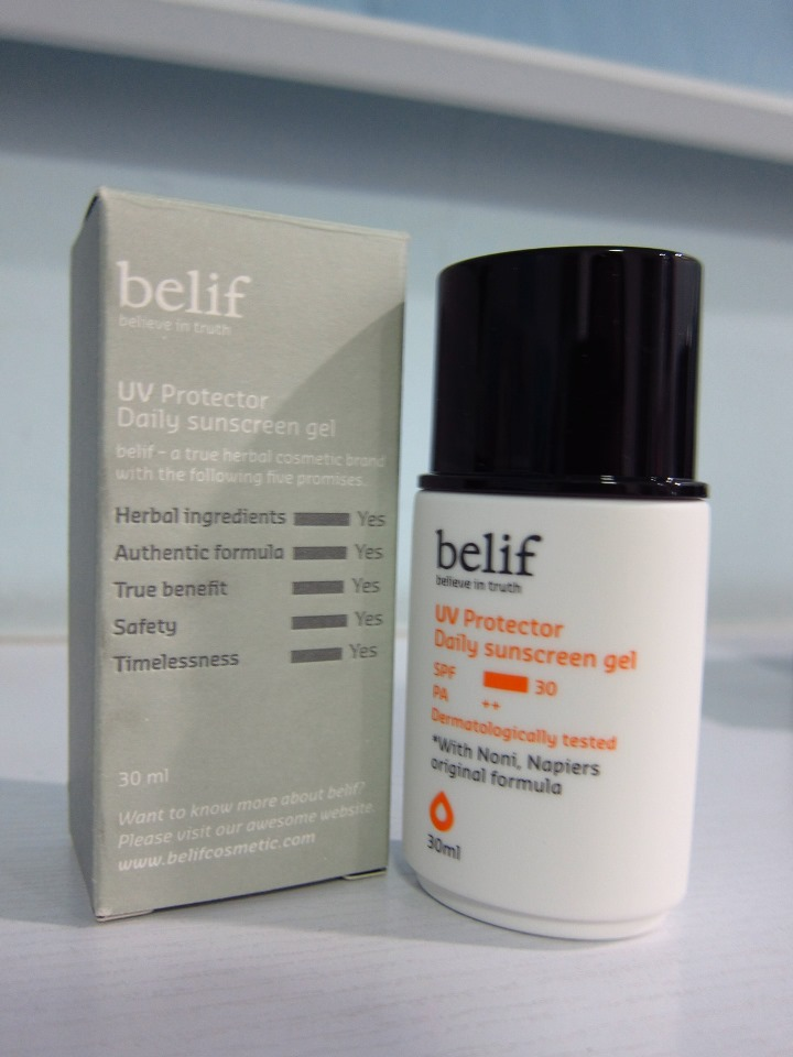 Belif UV Protector Daily Sunscreen Gel