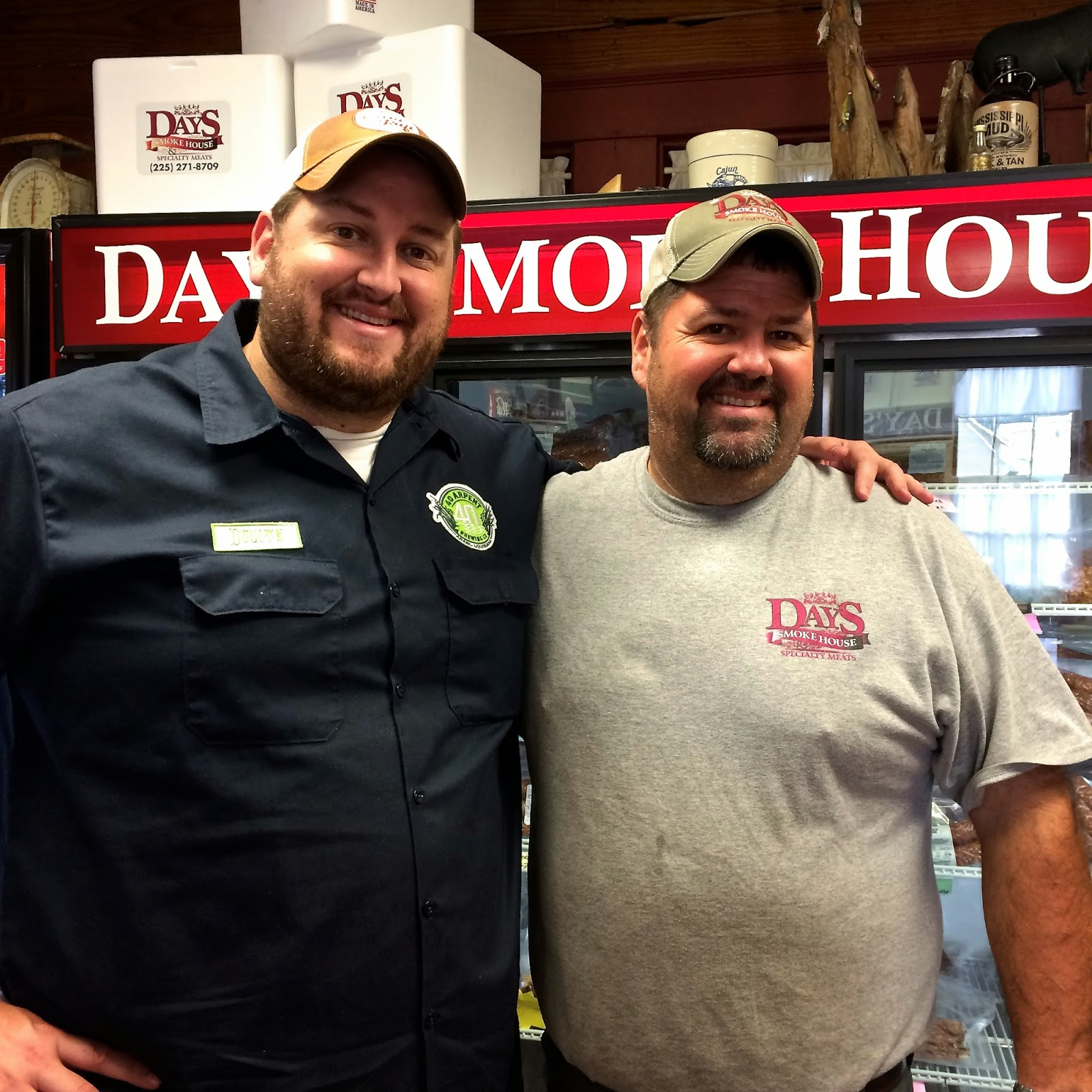 Owner Kendall Day and I at Day's Smokehouse in Denham Springs