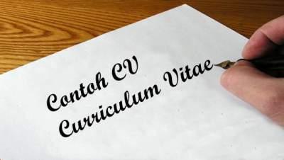 Contoh Curriculum Vitae (CV) Surat Riwayat Hidup Lamaran Kerja