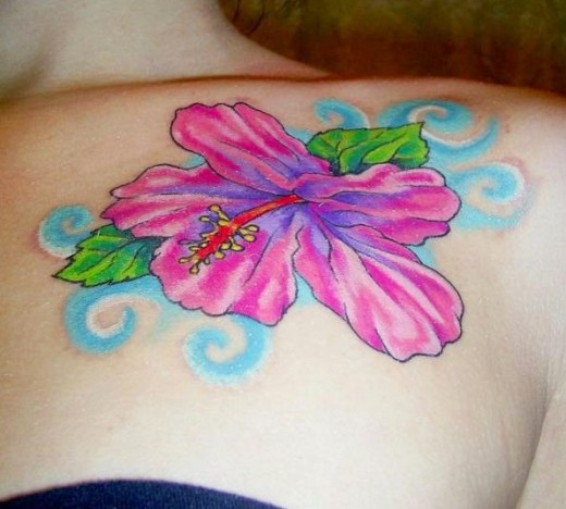 6795e030bece2 Hibiscus flower tattoos are popular with tattoo artists. Hibiscus flower is  most commonly seen in tropical countries but is less often used as gifts.