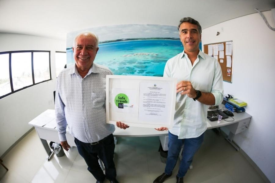 Governo concede Selo Internacional Safe Travels a Maragogi