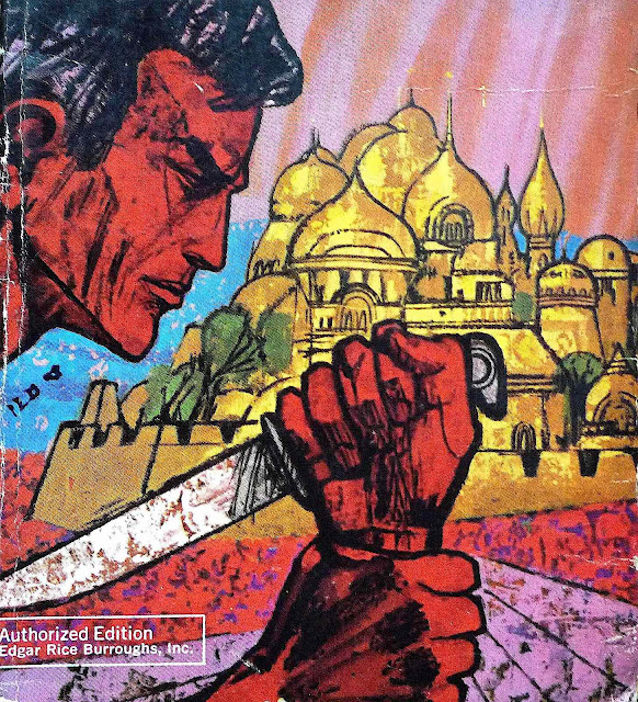 a Richard Powers illustration for an Edgar Rice Burroughs Tarzan book cover