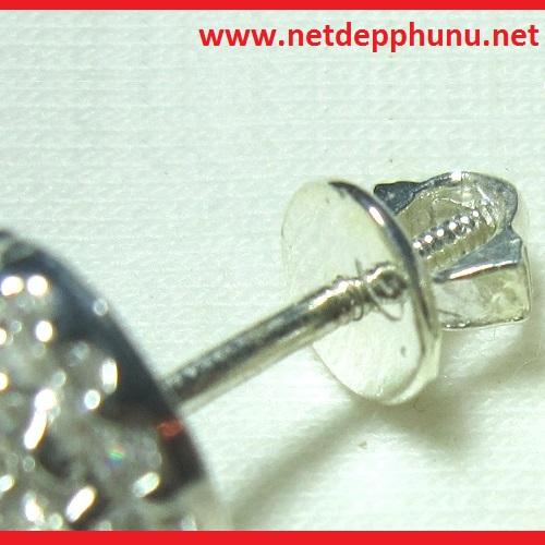www.netdepphunu.net-Bông tai đính đá trắng MS-B002 giá 120,000 được cung cấp bởi Netdepphunu.net