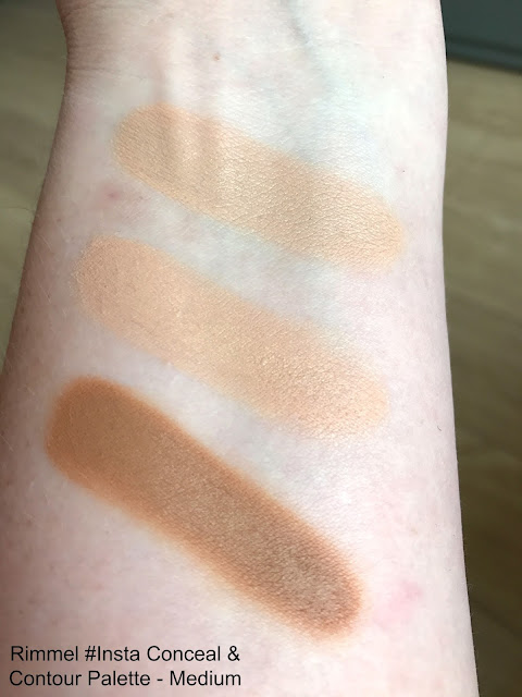 New Rimmel #Insta Makeup Collection Conceal & Contour Palette Medium Swatch