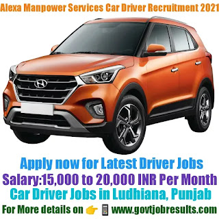 Alexa Manpower Services Car Driver Recruitment 2021-22