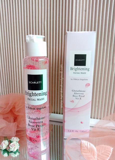 review brightening facial wash scarlett