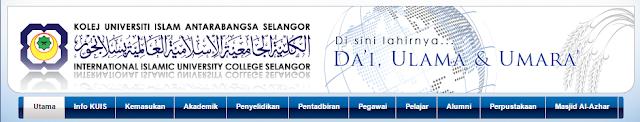 Rasmi - Jawatan Kosong (KUIS) Kolej Universiti Islam Antarabangsa Selangor Terkini 2019