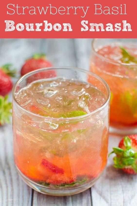 Bourbon Strawberry Smash