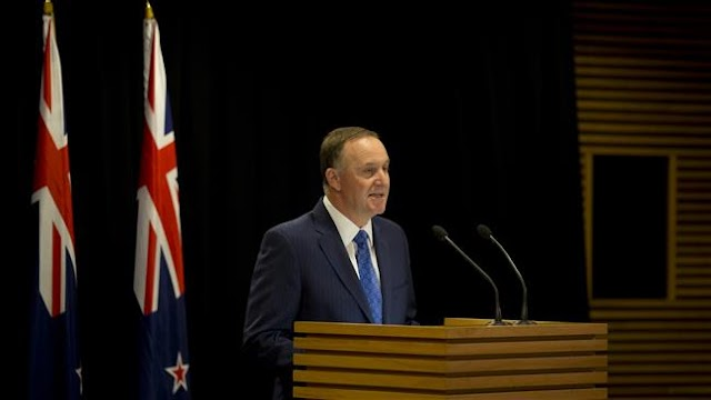 New Zealand's Prime Minister John Key announces sudden resignation