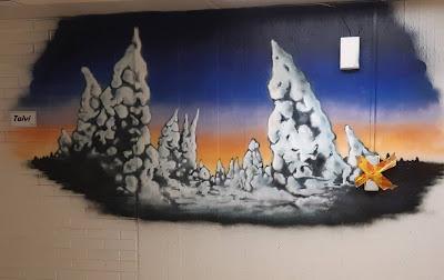 Talvi- seinämaalaus Hatapään sairaalassa