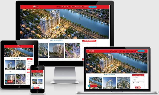 Theme wordpress bất động sản mẫu số 2 cực đẹp làm website tổng
