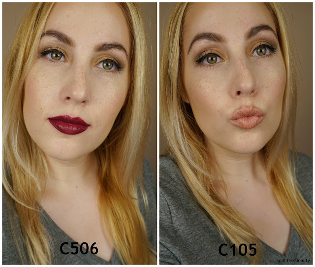 MAKE UP FOR EVER Artist Rouge lipstick C506 C105 review swatches 3