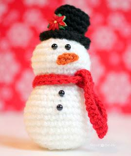 Crochet Snowman Amigurumi Free Patterns | 320x269