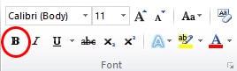 Cara Menebalkan Huruf/Tulisan di Microsoft Word