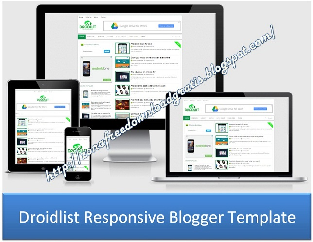 Download Droidlist Responsive Blogger Template 2016 - Blogger Template
