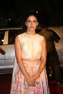 Lavanya Tripathi in Cream Blouse and Long Skirt at Gemini puraskaralu presentation event
