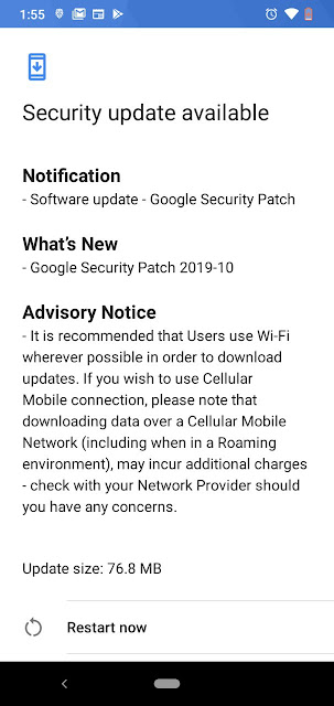 Nokia 2.2 receiving October 2019 Android Security patch