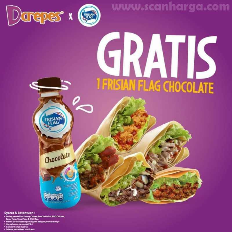 Promo Dcrepes Terbaru GRATIS 1 Frissian Flag Chocolate