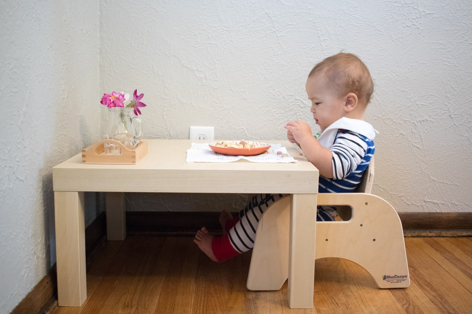 Toddler Chair And Table For Eating Glider Slipcovers Our Weaning Montessori Baby Week 42