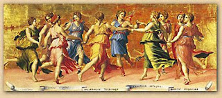 Ring Dance performed in legend by Apollo and the Muses