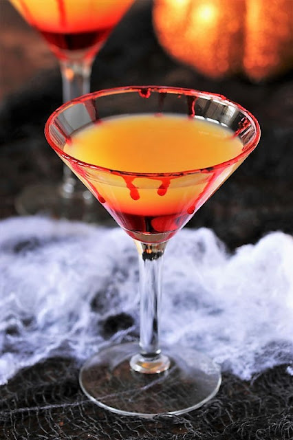 Bloody Tequila Sunrise Halloween Cocktail Image