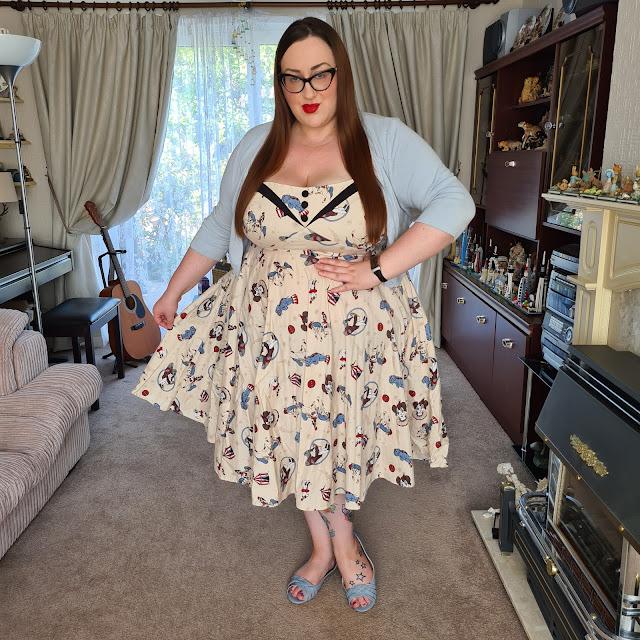 Hell Bunny circus print dress