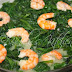 Spinach and Shrimps with Coconut Milk