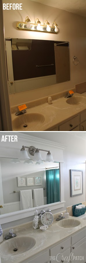 The Craft Patch Bright And Beautiful Budget Bathroom Remodel