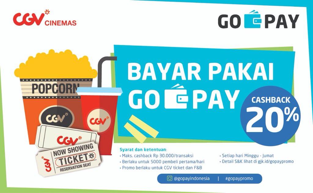 CGV - Promo Cashback 20% Bayar Pakai GoPay (s.d 31 Oktober 2018)