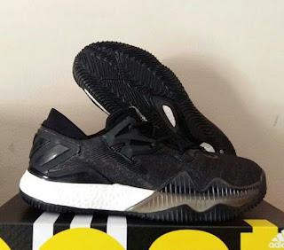 Sepatu Basket Adidas Crazy Light Boost 2016 Black White Murah , Sepatu Basket Premium, Sepatu Basket Murah