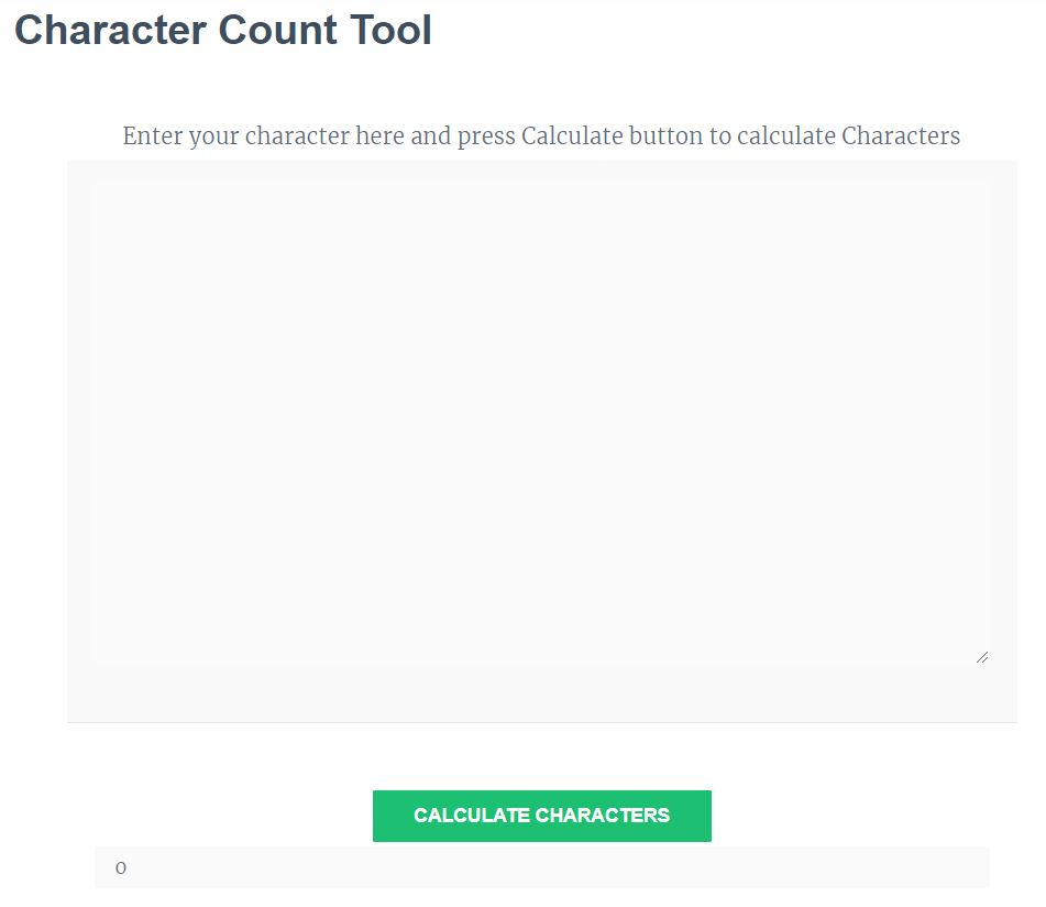 Character Count Tool - The Best Character Counter