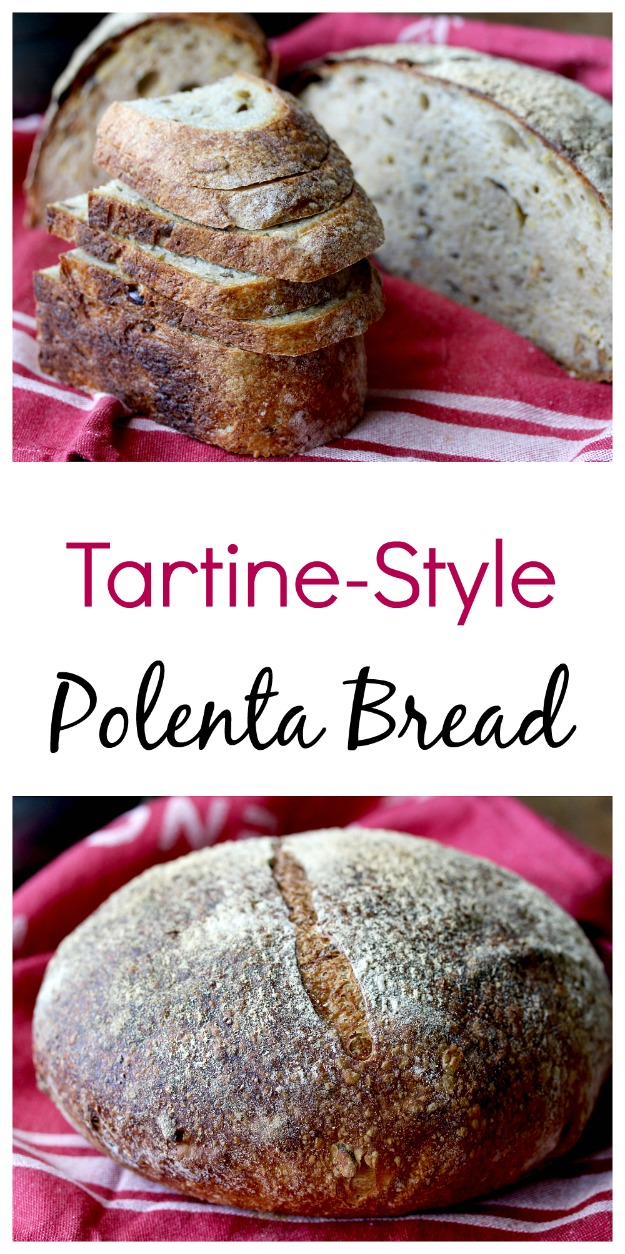 Tartine-Style Sourdough Rosemary Polenta Bread #tartine #sourdough #bread #artisanbread