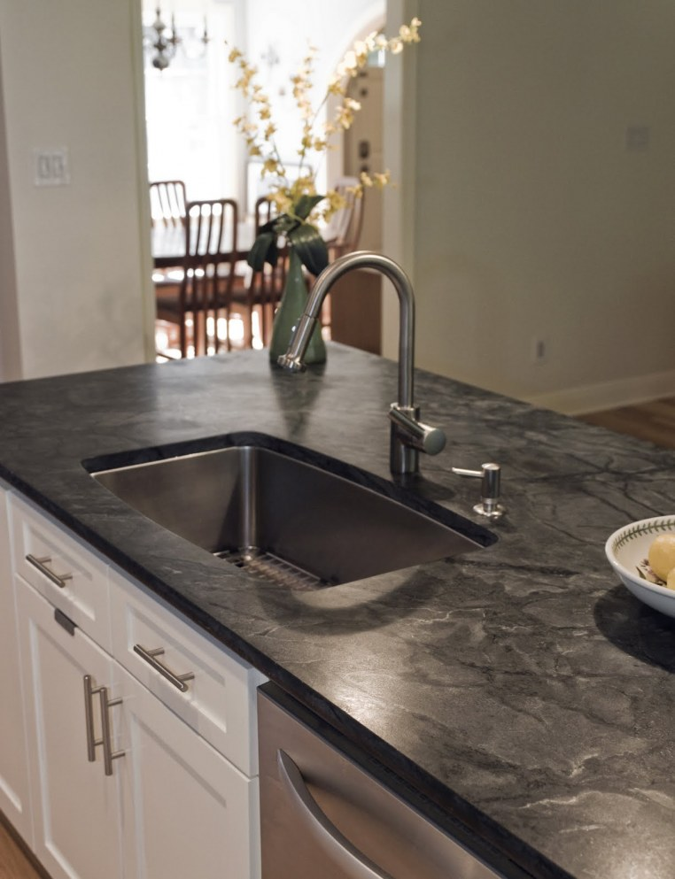 The Granite Gurus: 10 Soapstone Kitchens, Sinks and a Fireplace