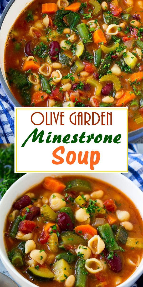 Olive Garden Minestrone Soup #souprecipes