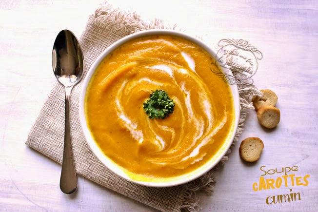 soupe de carotte et cumin