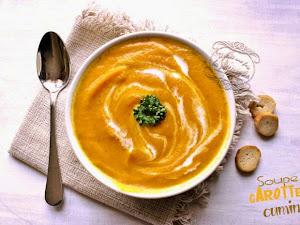 Soupe carotte cumin au blender chauffant