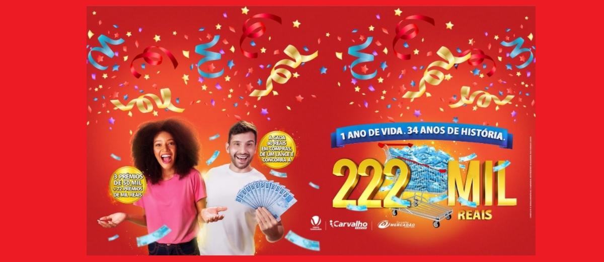 Promoção Aniversário 2020 Carvalho Super e Mercadão - Prêmio 50 Mil Reais