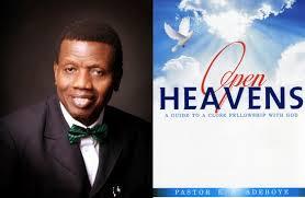 Rccg Open Heavens Devotional 2020: [Thursday] – God Will Reward You
