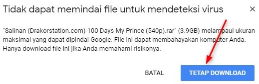 Limit Download Google Drive di PC