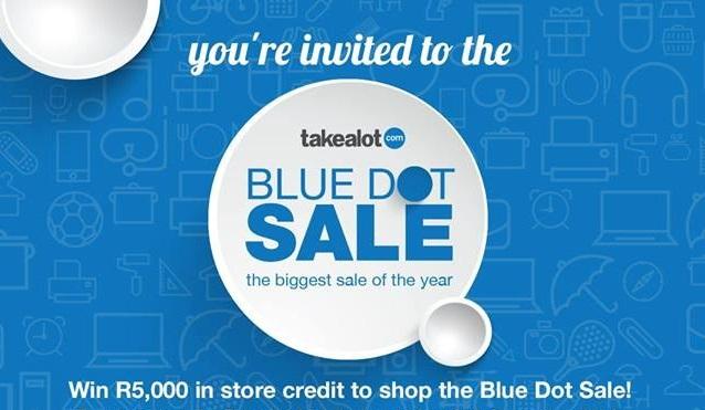 Takealot Blue Dot Sale is taking place