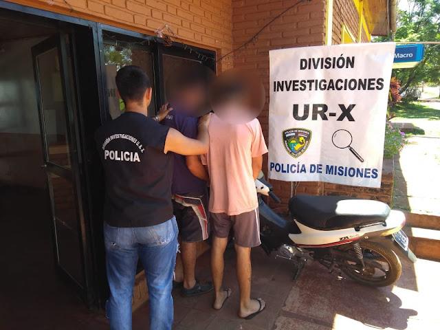 """POSADAS  Cayeron """"Tapita"""" y """"Cacho"""" por robar y vender una motocicleta"""
