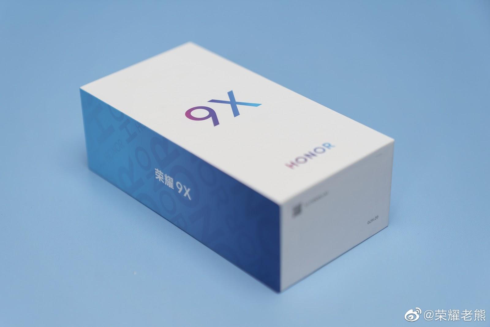 علبة الهاتف Honor 9X تلمح إلى أنه سيأتي بلون أزرق متدرج