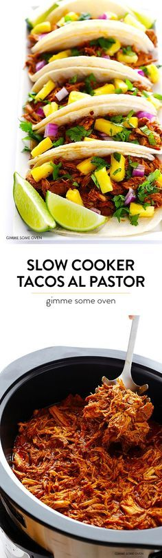 This slow cooker tacos al pastor recipe is quick and easy to prepare, full of amazing flavor, and your slow cooker does all the work for you!