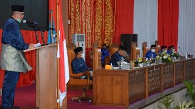 Wakil Gubernur Sumbar Hadiri Rapat Paripurna Hari Jadi Kabupaten Dharmasraya ke-17