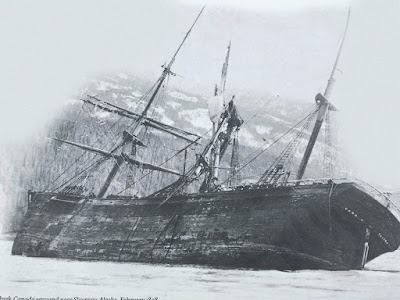 The shipwreck of the bark Canada, Skagway AK 1898