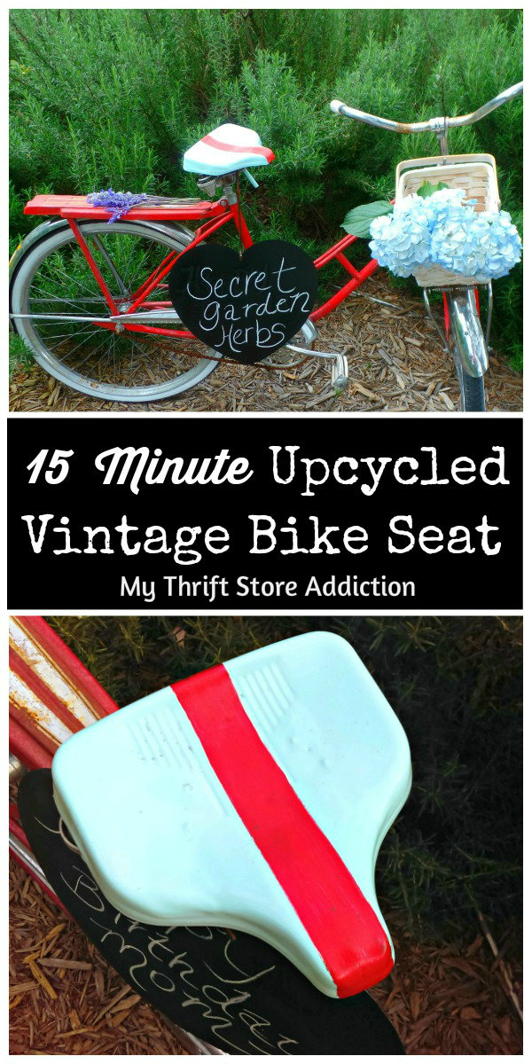 vintage bike seat upcycle