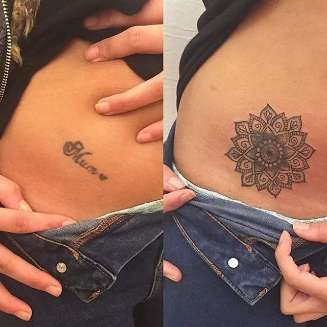 fixing tattoos before and after