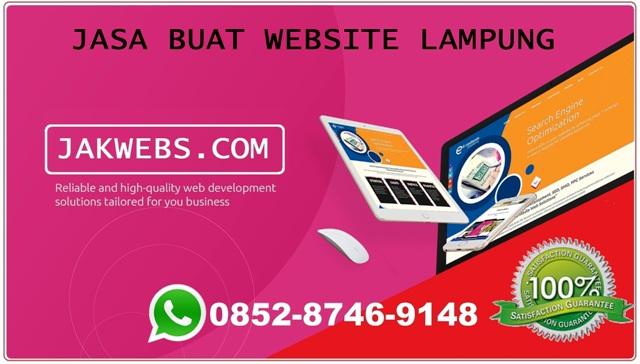 Jasa pembuatan website lampung, jasa web lampung, website lampung